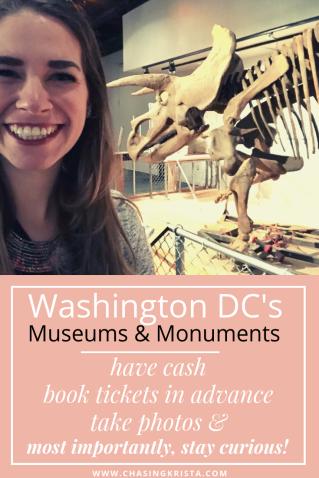Guide to Museums & Monuments in DC  | Chasing Krista | Washington DC, USA