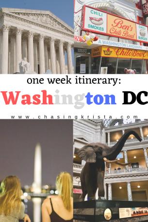 one week in the capital